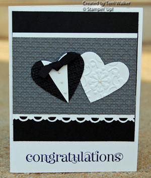 Curly Cute Wedding Card