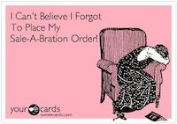 Sale-a-bration Sad Face