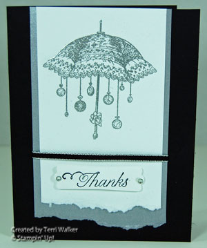 Silverembossedumbrella