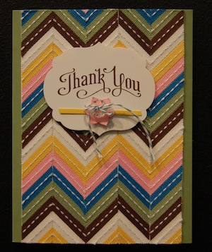 Thank you Ribbon Card