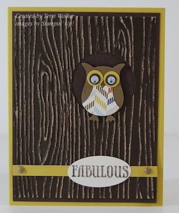 Woodgrain Owl