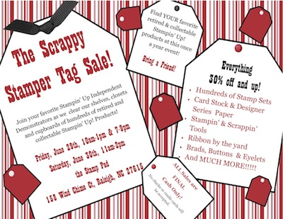 Tag Sale Posters or Flyers