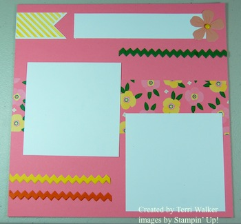 Flower Fair Scrapbook Page