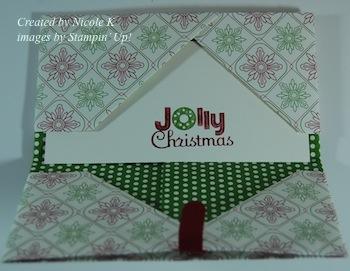 Nicole Gift Card holder open