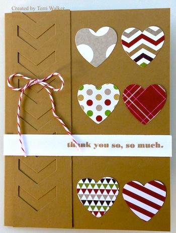 Hearts a Flutter card map