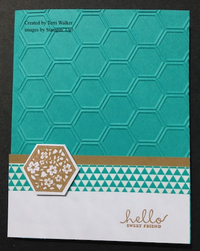 Six-Sided Sampler Friendship card