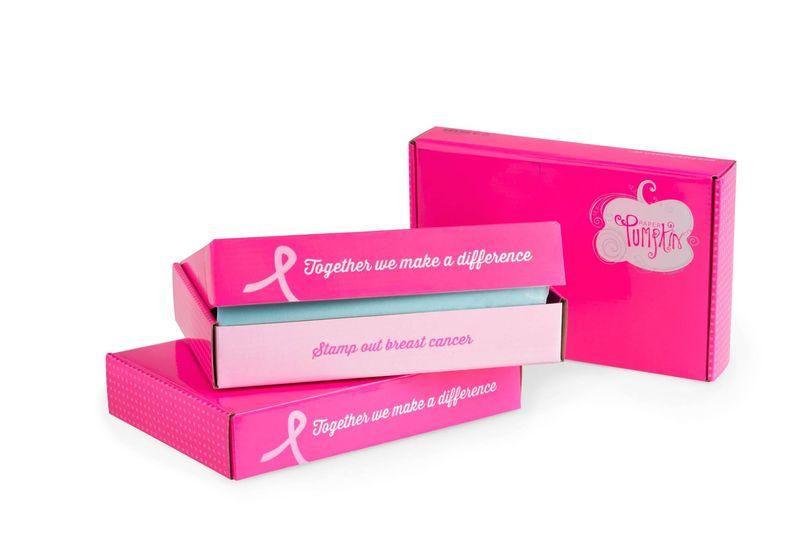 Paper Pumpkin breast cancer
