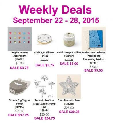 Weekly Deals Sept 22