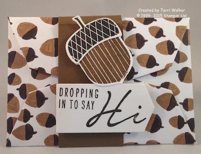 Acorny Gift Card Envelope