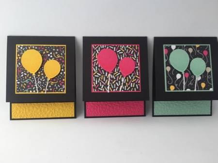 Three colors balloons