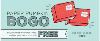 Paper Pumpkin BOGO
