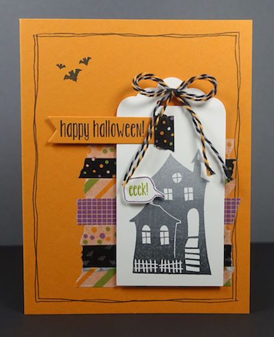 Hallowee Scares Tag card