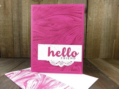 Marbled card