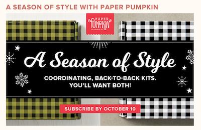 Season of Style Paper Pumpkin