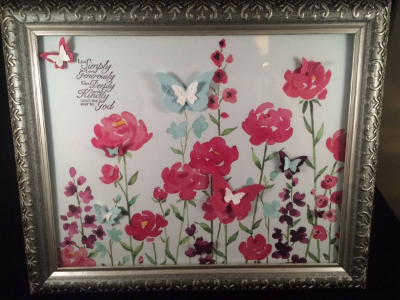 Painted Blooms frame