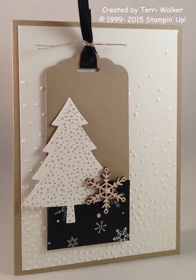 Softly Falling Christmas card