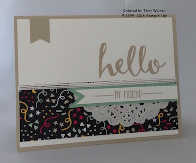 Hello card with banner