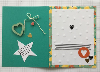 Card kit card 1 adhered