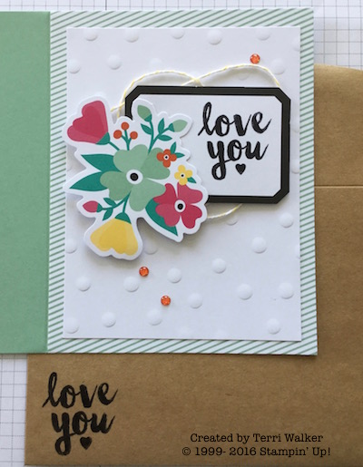 Card three with envelope