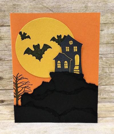 Halloween Scares Moon & Mountain