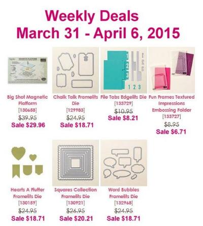 Weekly Deals Mar 31