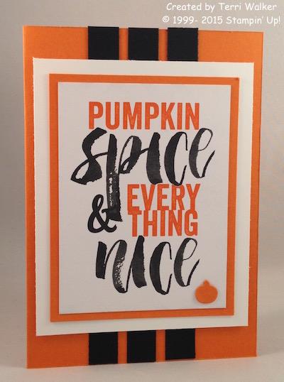 Pumpkin Spice card