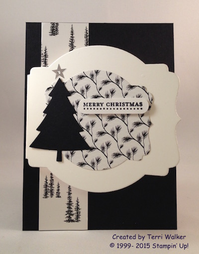 Peaceful Pines Tag card