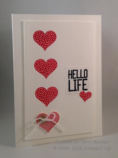 Hello Life mini heart