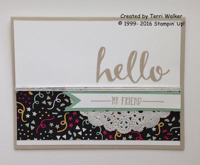 Hello plain card