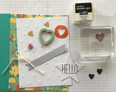 Card kit card 1 hearts