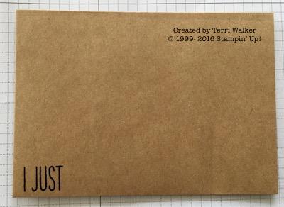 Card #12 stamp envelope