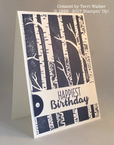 Woodland birthday card