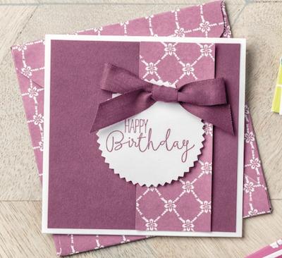 Birthday card stack