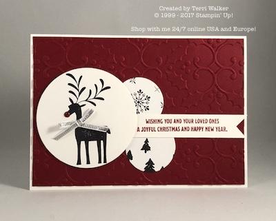 Merry Mistletoe card map