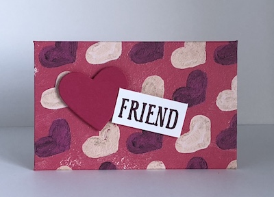 Painted with Love Valentine envelope