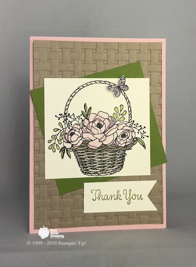 Blossoming Basket thank you