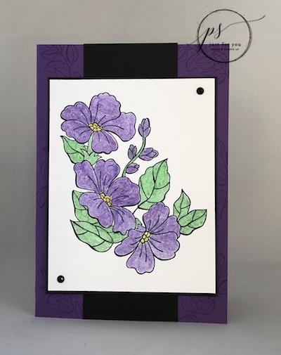 Blended Season watercolor project sheet