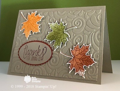 Swirls and Curls Thanksgiving card