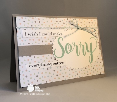 Sorry sympathy card