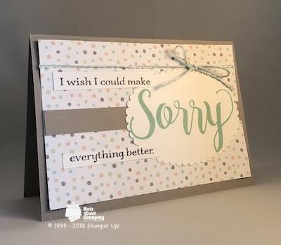 Sorry sympathy card