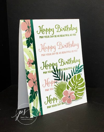 Tropical Chic card
