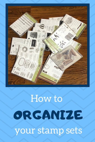 How to organize your stamp sets brown