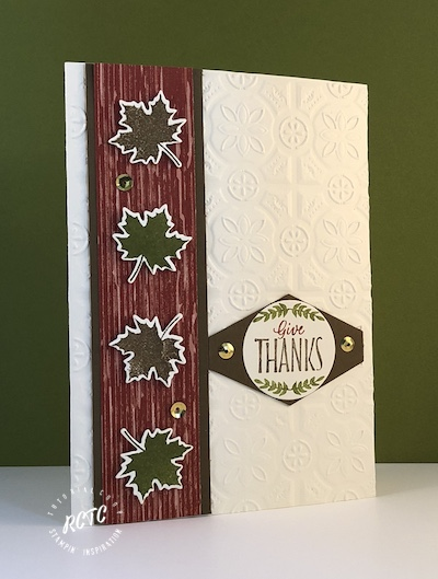 Tin Tile thank you card