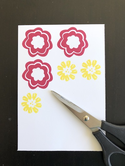 Happiness Blooms fussy cutting