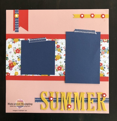 Needlepoint Nook scrapbook page