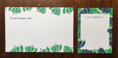 Happiness Blooms journaling cards