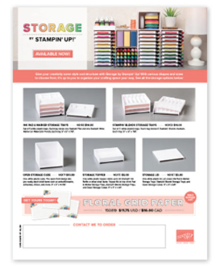 Stampin' Storage flyer