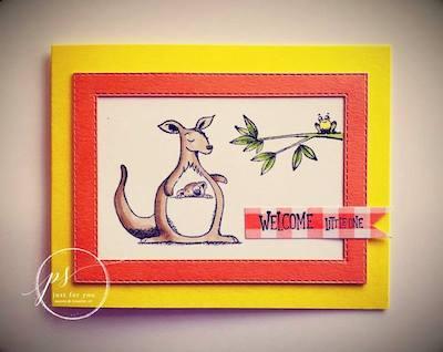 Baby Kanga card