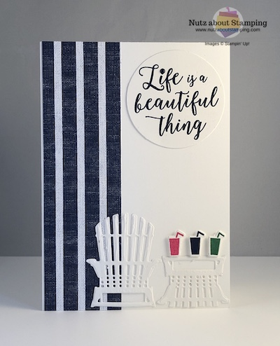 Colorful Seasons beach card