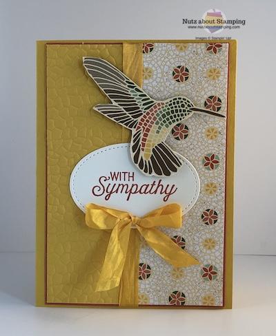 Flourishing Phrase sympathy card